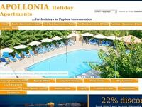 Apollonia Holiday Apartments Website Screenshot