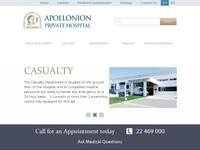Apollonion Private Hospital Website Screenshot