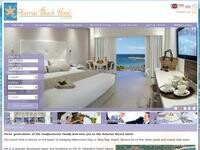 Asterias Beach Hotel Website Screenshot