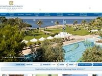 Athena Royal Beach Hotel Website Screenshot