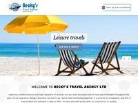 Beckys Travel Agency Website Screenshot