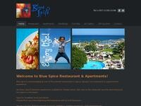 Blue Spice Restaurant Website Screenshot