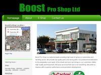 Boost Pro Shop Website Screenshot