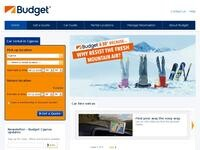 Budget Car Rental Website Screenshot