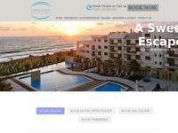 Capital Coast Resort & Spa Website Screenshot