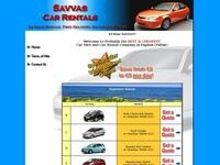 Savvas Rentals Website Screenshot