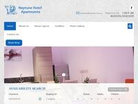 Neptune Hotel Apartments Website Screenshot