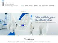 Odysseos Dental Implant Clinic Website Screenshot