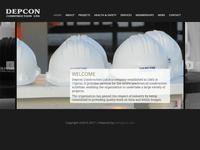 Depcon Construction Website Screenshot