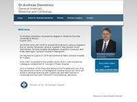 Dr. Andreas Demetriou Website Screenshot