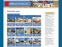 Elite Cyprus Villas Website Screenshot