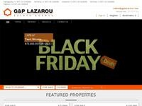 G & P Lazarou Website Screenshot