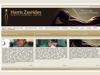 Harris Zavrides Plastic Surgery Center Website Screenshot