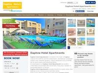 Daphne Hotel Apartments Website Screenshot