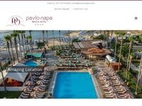 Pavlo Napa Beach Hotel Website Screenshot