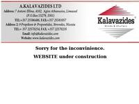 Kalavazides Blinds & Shutters Website Screenshot