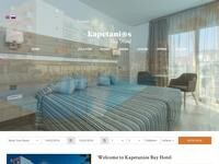 Kapetanios Bay Hotel Website Screenshot