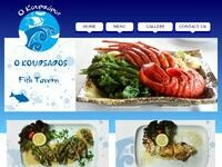 Koursaros Fish Tavern Website Screenshot