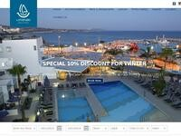 Limanaki Beach Hotel Website Screenshot