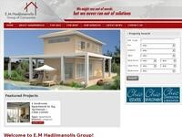 E.M. Hadjimanolis Ltd Website Screenshot
