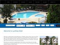 Lysithea Hotel Apartments Website Screenshot