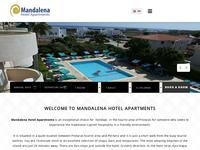 Mandalena Hotel Apartments Website Screenshot