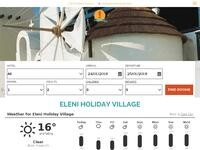 Eleni Holiday Village Website Screenshot