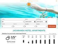 Jacaranda Hotel Apartments Website Screenshot
