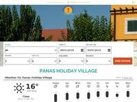 Panas Tourist Village Website Screenshot