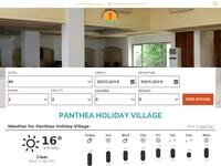 Panthea Holiday Village Website Screenshot