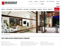 Massif Wooden Doors & Windows Website Screenshot