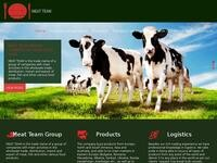 Meat Team Group Website Screenshot