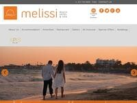 Melissi Beach Website Screenshot