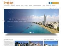 Pafilia Property Developers Website Screenshot