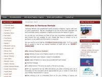 Pentaras Rentals Website Screenshot