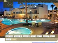 Petrosana Hotel Apartments Website Screenshot