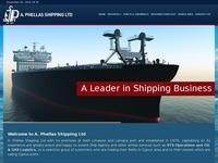 Phellas Shipping Website Screenshot