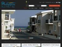 Philippou Villas Website Screenshot