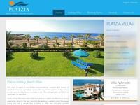 Platzia Villas Website Screenshot