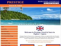 Prestige Travel Website Screenshot