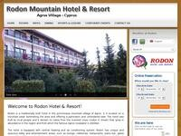 Rodon Hotel Troodos Website Screenshot