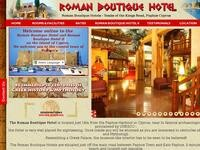 Roman II Boutique Hotel Website Screenshot