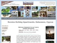 Romios Apartments Website Screenshot