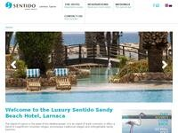 Sandy Beach Larnaca Website Screenshot