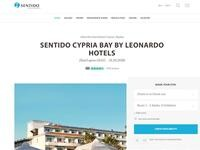 Sentido Cypria Bay Website Screenshot