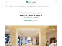 SENTIDO Kouzalis Beach Hotel Website Screenshot