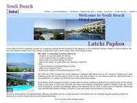 Souli Beach Hotel Website Screenshot