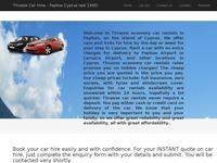 Thrasos Car & Bike Rentals Website Screenshot