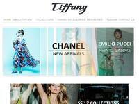 Tiffany Boutique Website Screenshot