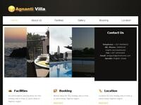Villa Agnanti Website Screenshot